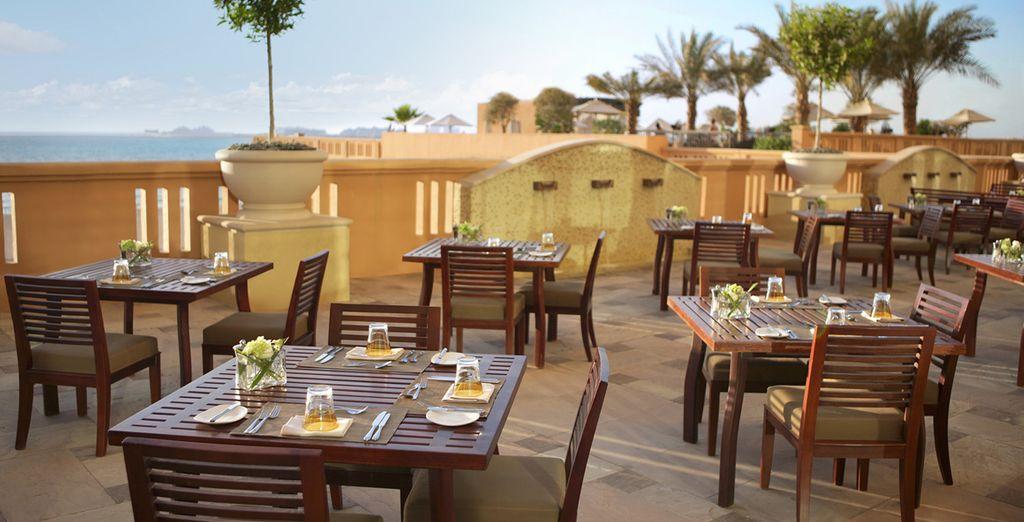 Sulla terrazza potrete gustare un drink in tutta tranquillità.