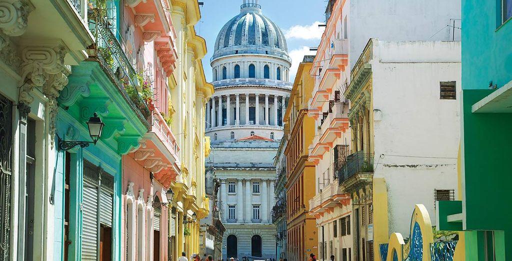 Sosta per scoprire la città dell'Avana a Cuba