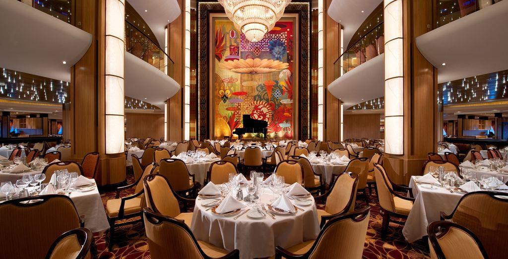 dove potrete gustare i vostri pasti in eleganti ristoranti