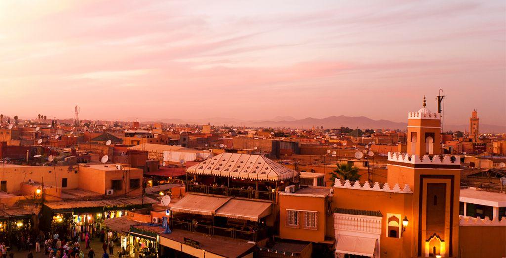 Marrakech e la sua vivacità vi attendono