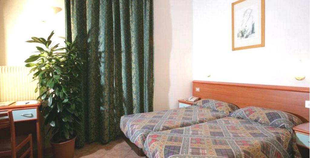 Potrete riposare in confortevoli Camere Doppie Standard