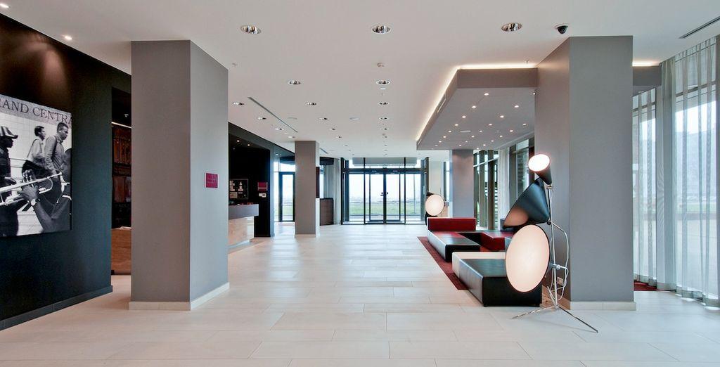 soggiornando in un confortevole hotel di design