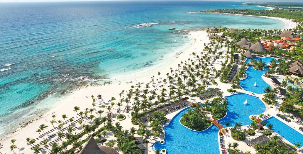 Su una delle più belle spiagge della Riviera Maya