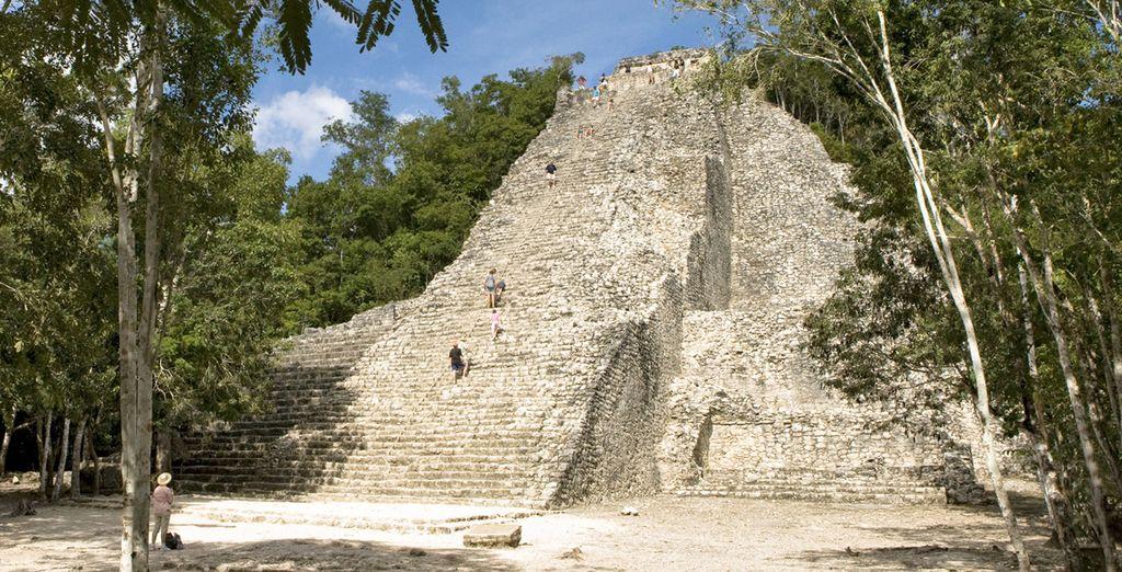 E per finire, salite sulla piramide di Cobà