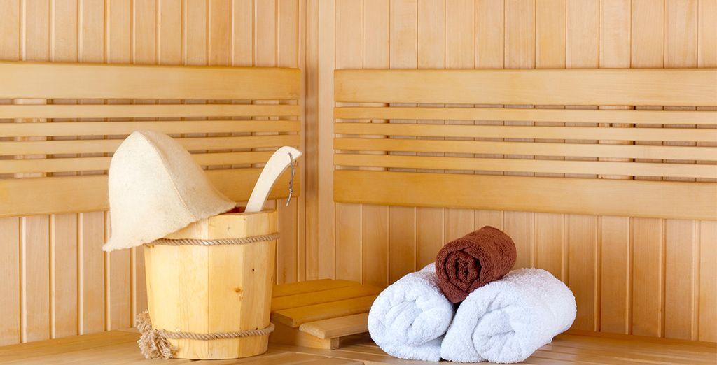 Rilassatevi in sauna dopo una giornata trascorsa a scoprire le bellezze della città