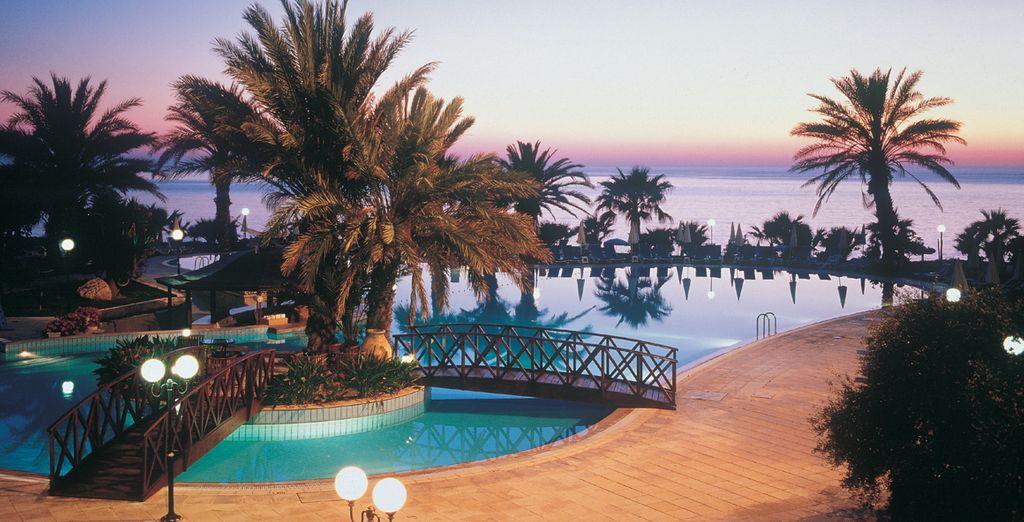 Lo spettacolare tramonto di Cipro