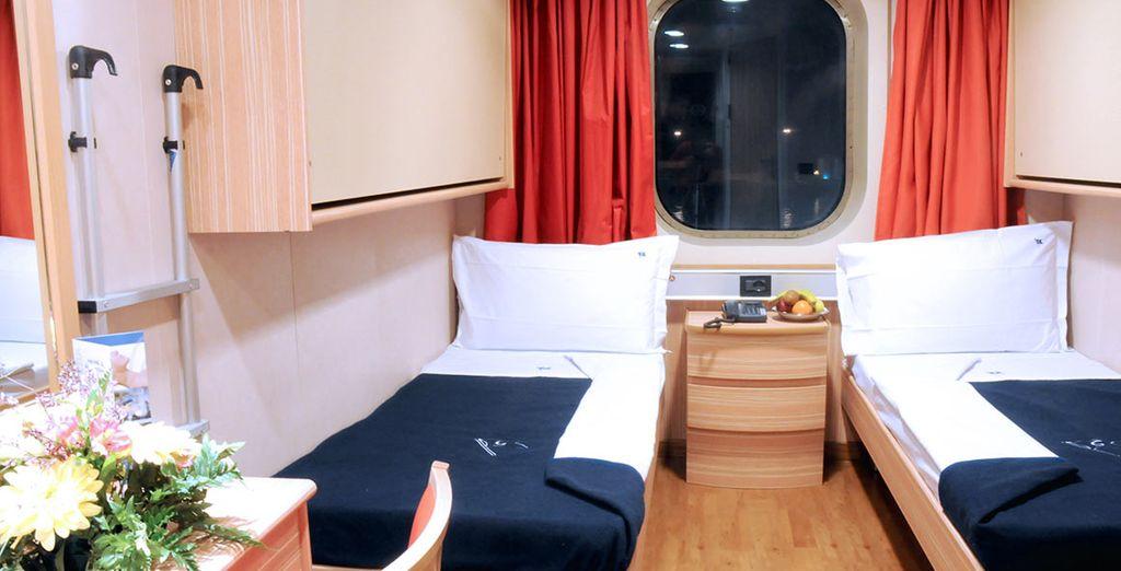 E una comoda cabina per riposarvi