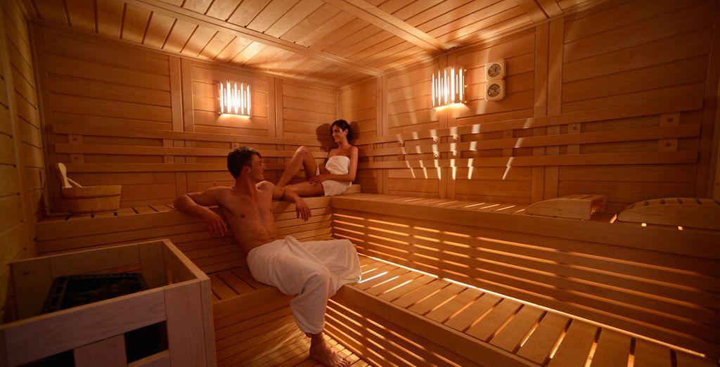 Rilassatevi presso la sauna finlandese del centro benessere