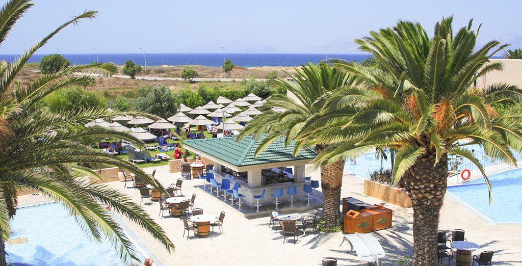 Un resort idealmente situato a Marmari, a nord dell'isola