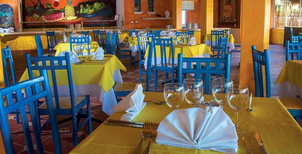 Gustate i buffet del ristorante Chichen Itza