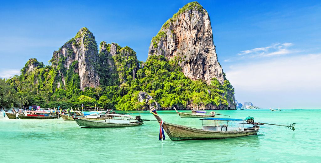 Potrete scegliere in opzione anche una escursioni alle 4 isole a Krabi