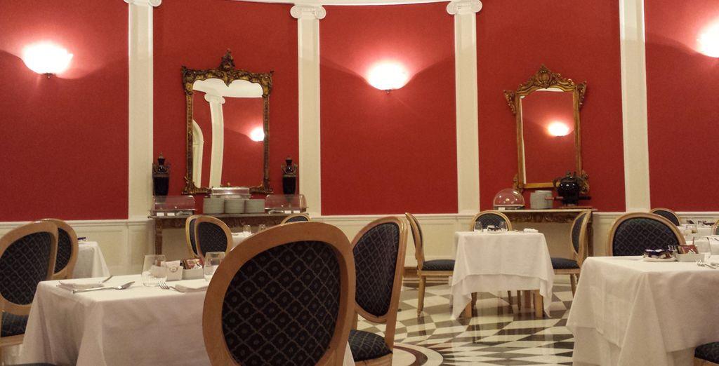 Potrete gustare la vostra colazione in un'elegante sala