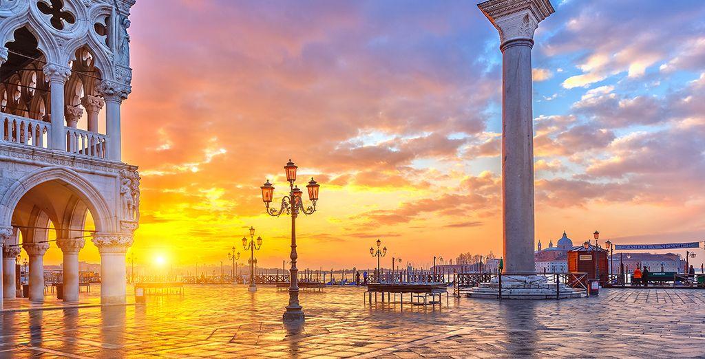 e non sarete lontani da importanti città come Venezia