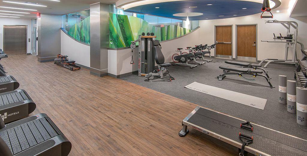 La sala fitness aperta 24 ore al giorno