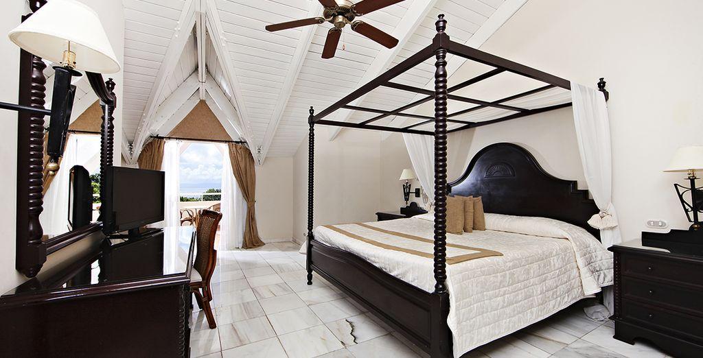 O nelle confortevoli camere Superior