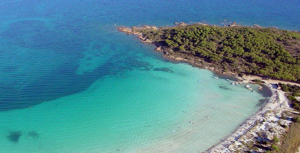 A breve distanza dall'hotel si trova la bellissima spiaggia di Lu Impostu
