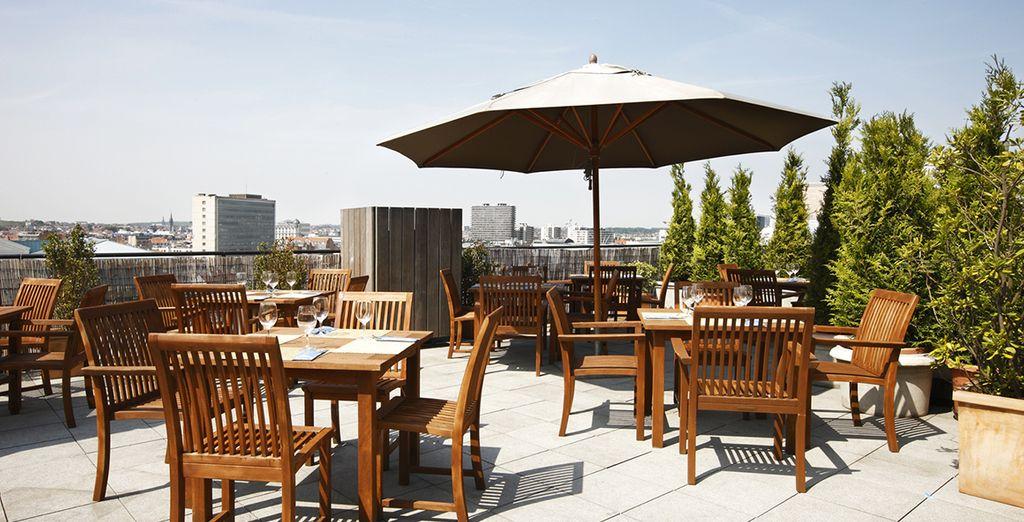 potrete anche scegliere di fare colazione sulla bellissima terrazza panoramica
