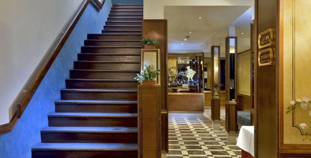Soggiornerete presso l'Hotel Amadeus