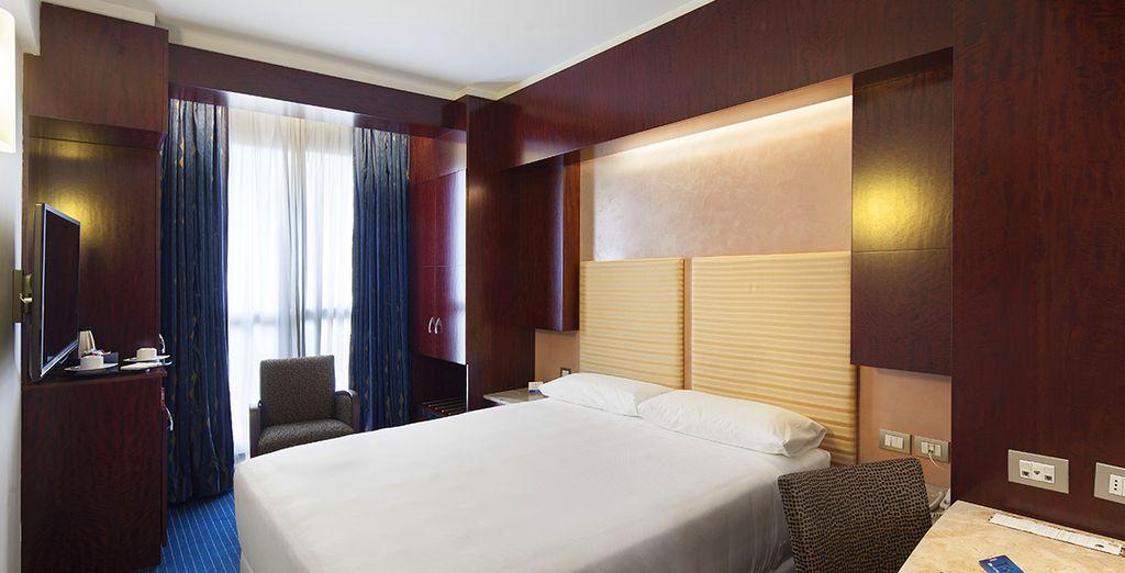 Potrete riposare in una moderna e confortevole Camera Superior