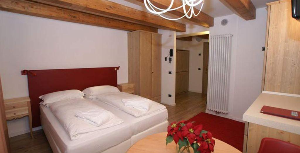 Soggiornerete in una confortevole camera doppia
