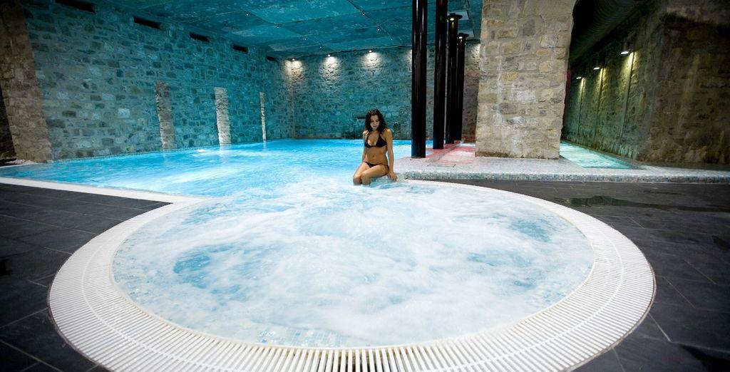 o una nella meravigliosa vasca idromassaggio