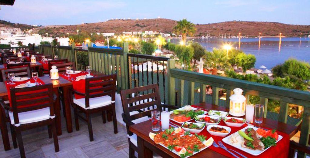 L'hotel dispone di un ristorante a buffet