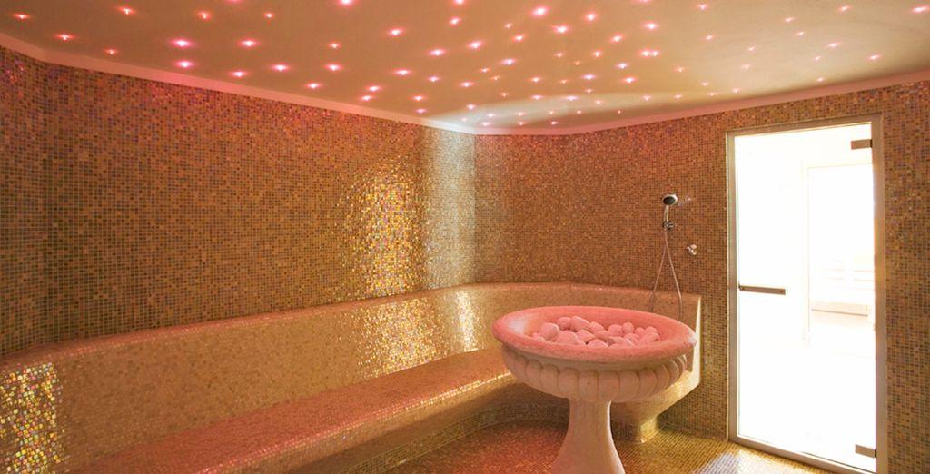 tra sauna, bagno turco e vasche idromassaggio