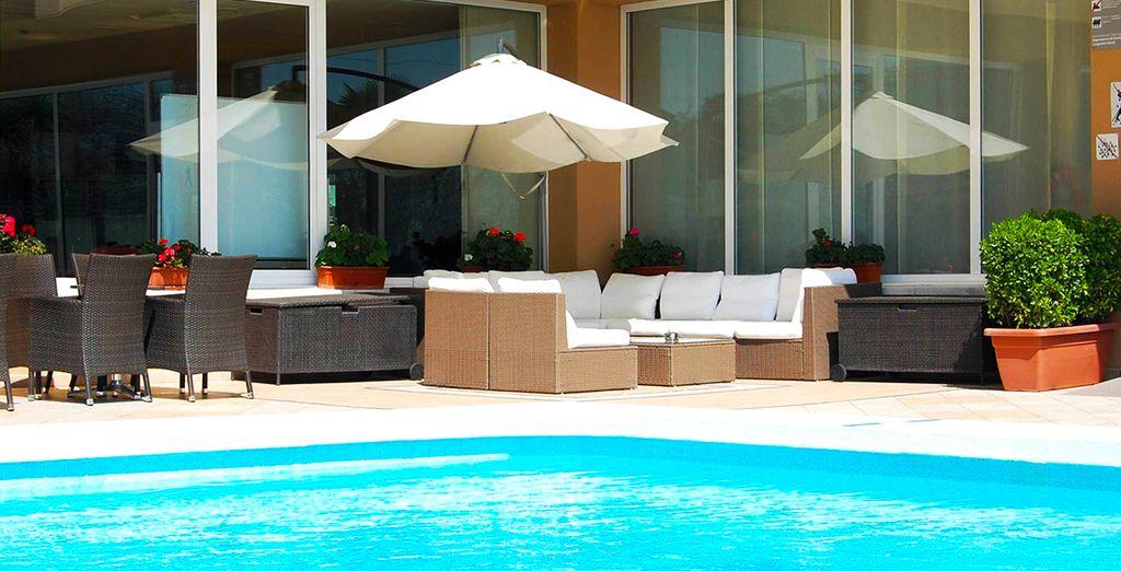 Uno splendido resort con piscina