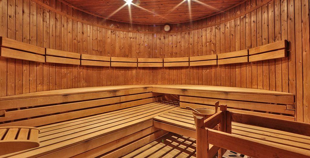 Vi attendono momenti di totale relax tra sauna, docce emozionali e percorsi Kneipp