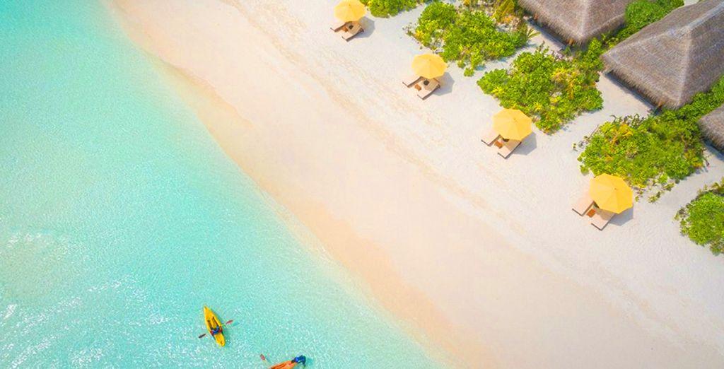 dove vi aspettano le spiagge bianche del Dhigufaru Island Resort