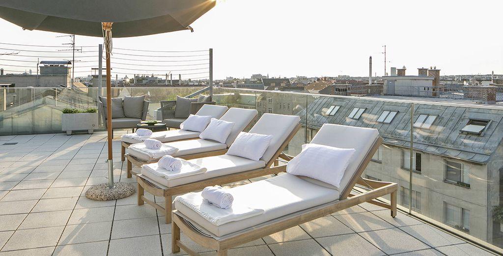 e godete di momenti in totale tranquillità presso la terrazza solarium