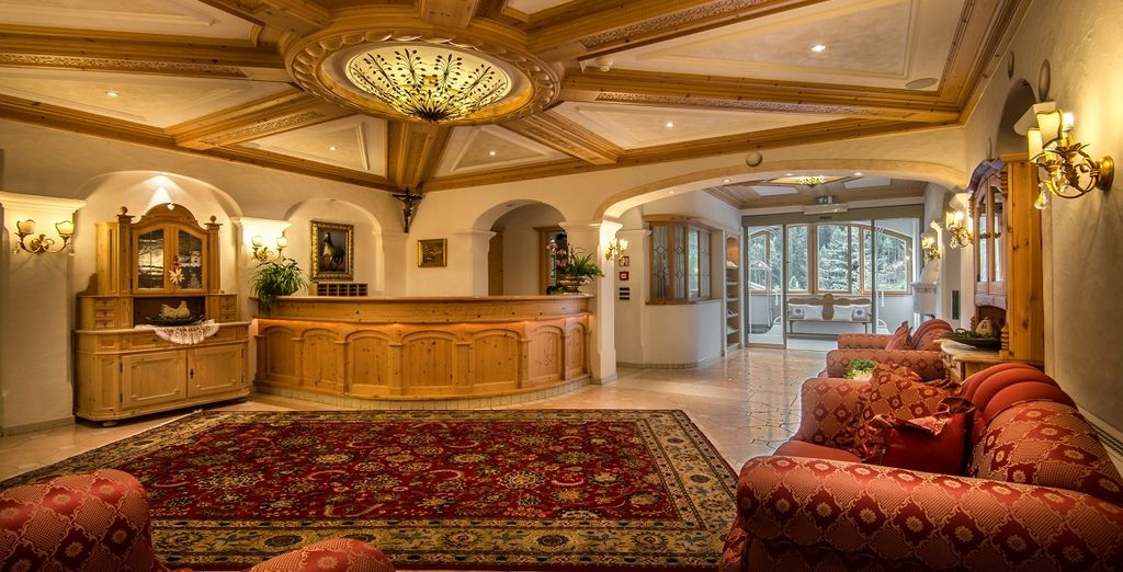 L'Hotel Diamant 4* vi attende, con i suoi interni caldi ed accoglienti