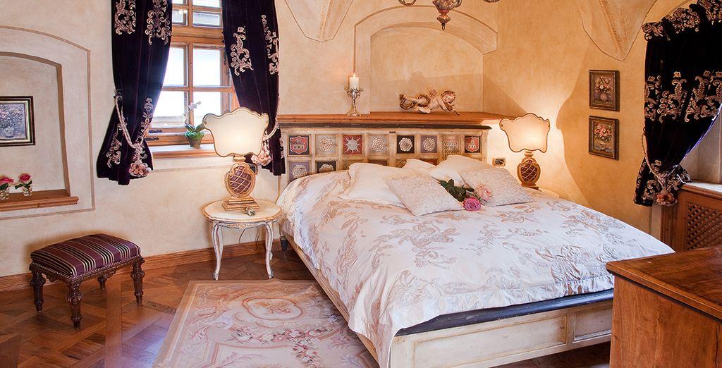 o in esclusive Grand Romantik Suite di circa 75 mq