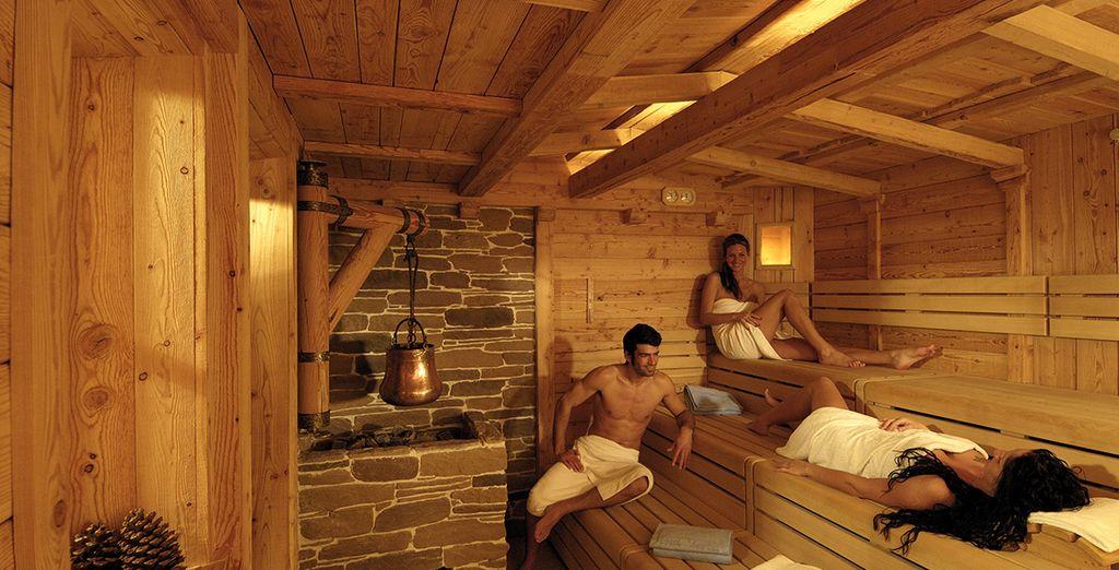 La sauna finlandese è uno dei diversi modi per prendersi cura di sé nel centro benessere