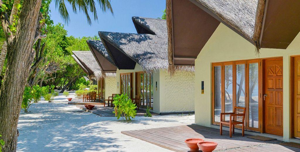 Potrete scegliere di soggiornare nelle spettacolari Beach Villa