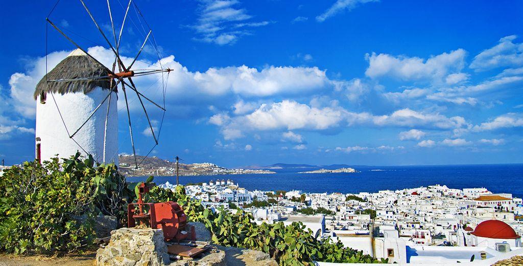 e mulini a vento caratterizzano la splendida Mykonos