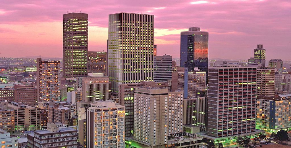 Visiterete lo skyline di Johannesburg