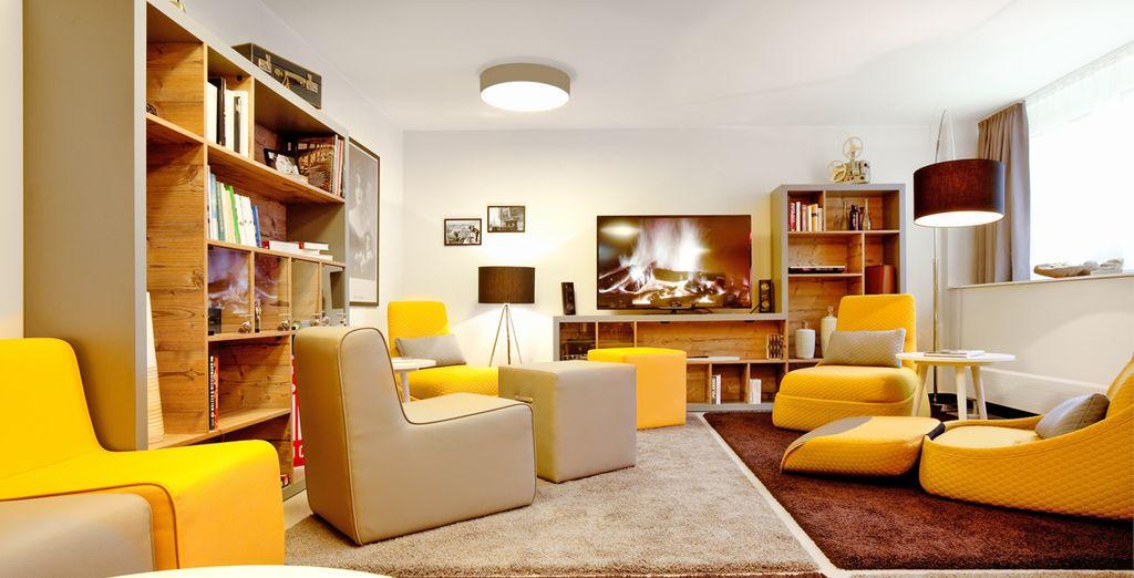 Atmosfere moderne e design accattivante vi attendono