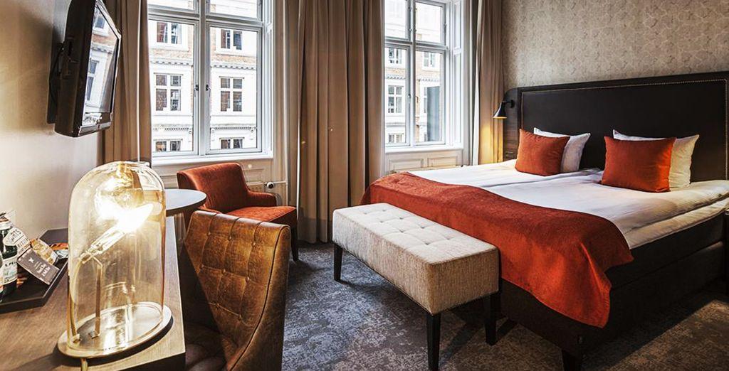 Benvenuti a Copenhagen dove sarete accolti da ambienti ricchi di comfort