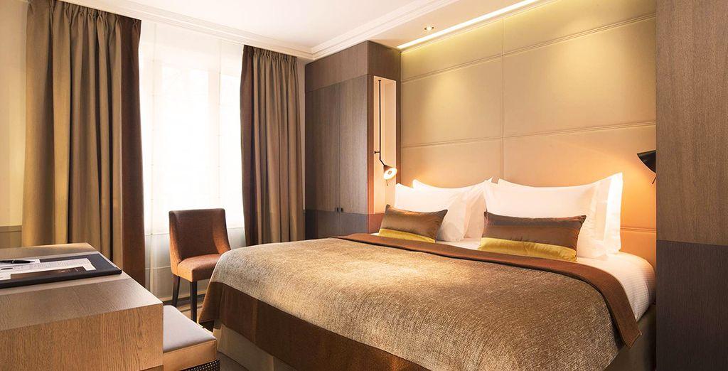 Soggiornerete in eleganti camere Standard Villa