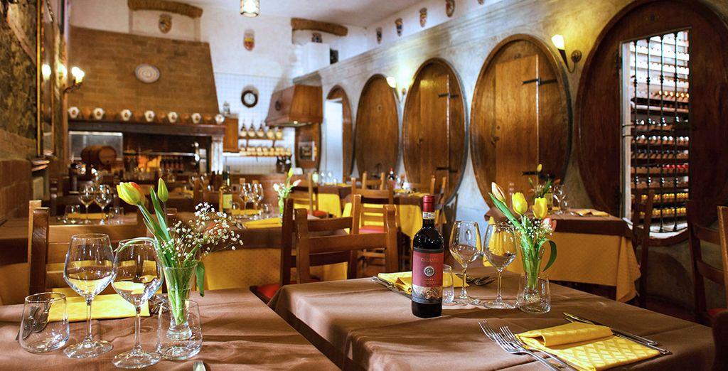 e degustate i vini rossi e bianchi di produzione propria, oltre a una varietà dei migliori vini italiani