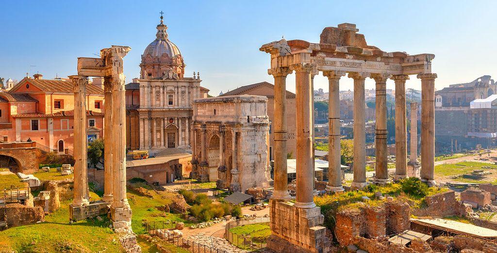 Con la possibilità di visitare la magica Città Eterna.