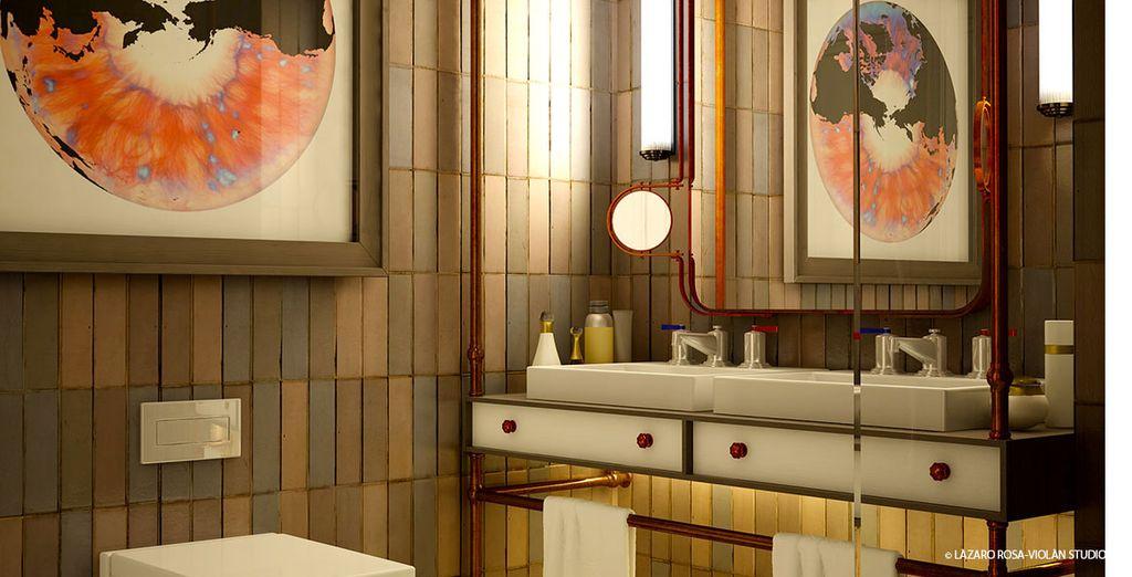 Dallo stile moderno ed elegante la camera Classic Barcelona offre ogni tipo di comfort