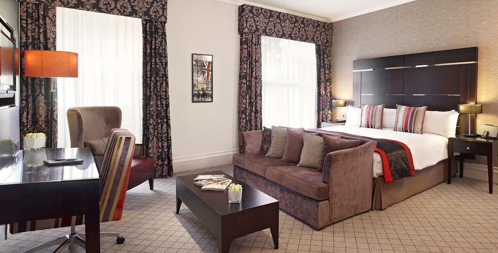 Potrete scegliere se soggiornare nelle caratteristiche camere Deluxe o nelle ampie e luminose camere Executive