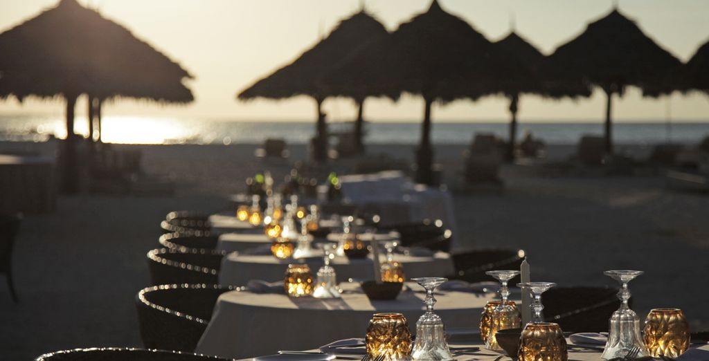 Potrete cenare sulla spiaggia, al tramonto