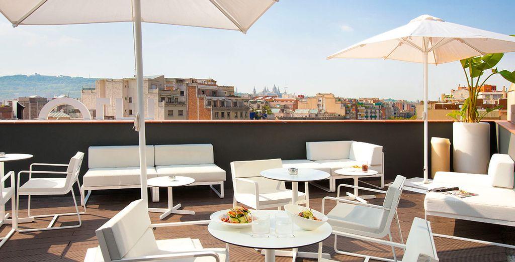 il Terrazza Sky Bar è perfetto rilassarsi al sole