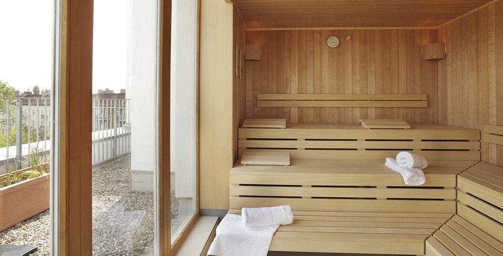 Concedendovi una sauna rilassante