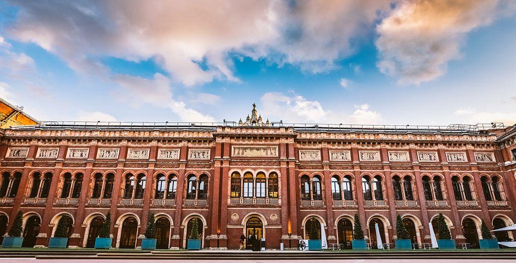 e i musei, tra cui il Il V&A, il più grande museo di arte e design del mondo