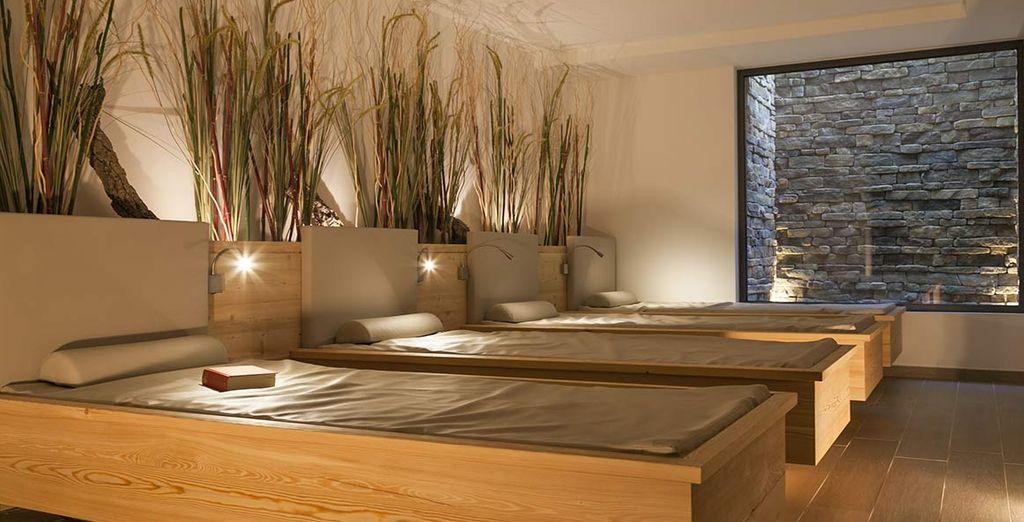 Le confortevoli aree relax, oasi di pace e tranquillità