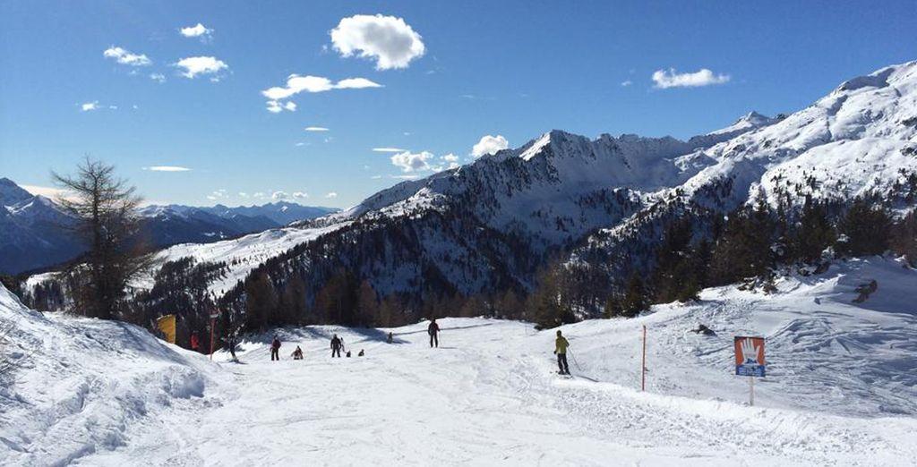 dove potrete divertirvi sulle piste da sci di Madonna di Campiglio, Pinzolo e Marilleva